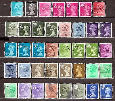 QEII 1971-96 stamps in 1/2p increments used (j436)