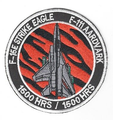 USAF Air Force Patch:  391st Fighter Squadron F-15E/F-111 1500 Hours