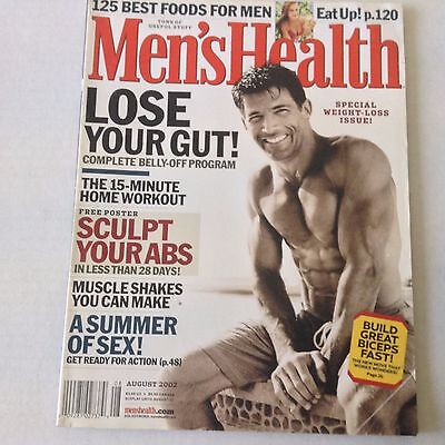 MEN'S HEALTH MAGAZINE Lose Your Gut Home Workout August 2002 061117nonrh