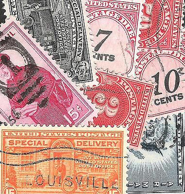 Lot of 50 Different Used US BOB Stamps (Lot F170186)