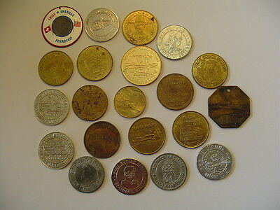 Mixed Lot Souvenir & Good Luck Tokens Various Locations Over 40 Tokens