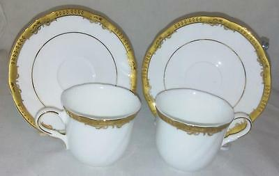 Royal Doulton - Crown Swirl Gold Cup and Saucer