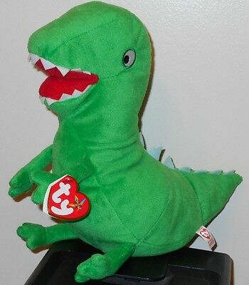 """Ty Beanie Buddy ~ MR. DINOSAUR the 10"""" UK Peppa Pig Park Exclusive ~ NEW w/ TAGS"""