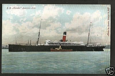 GTR Early Postcard, Dominion Line S.S. Canada