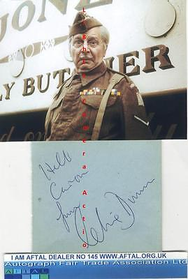 Clive Dunn vintage signed album page, Dads Army AFTAL