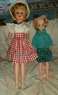"Vintage Fashion Dolls Lot Sleep Eyes Wearing Clothes Shoes 15"" & 19"""