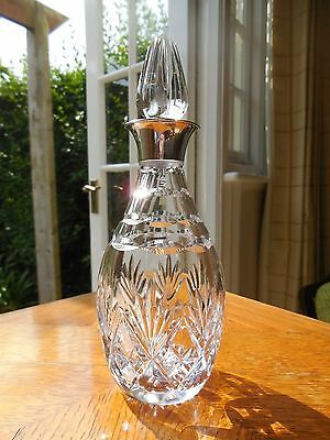 Silver Neck Cut Glass Personal Decanter