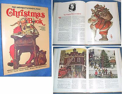 The Saturday Evening Post Christmas Book with Norman Rockwell Illustrations 1979