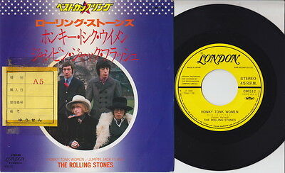 The ROLLING STONES * Honky Tonk Women * 1980 JAPANESE 45 * Listen!