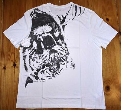 "*all Saints ""bengal Ss Crew"" Graphic T-Shirt Tee Top - Size Xl White*"