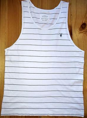 "All Saints ""tonic Striped Vest"" T-Shirt Top - S Small - White"