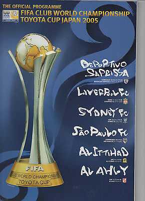 2005 FIFA Club World Championship Tournament Football Programme (Toyota Cup)