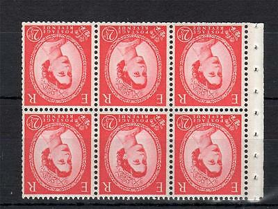 21/2d 2 BANDS PHOSPHOR WILDING BOOKLET PANE UNMOUNTED MINT WMK INV Cat £1100