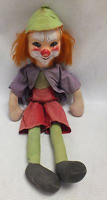 Vintage c1960s COCO THE CLOWN Cloth Doll HIGHLY COLLECTABLE 52cm Tall  - C61