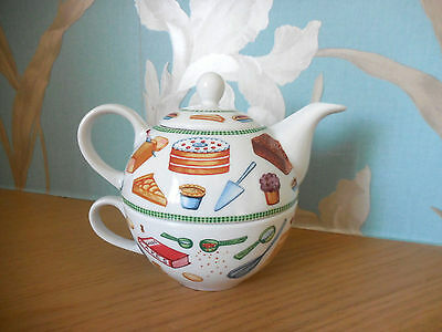 """Royal Worcester - Tea For One -"""" Baking Day """" - Very Good Condition."""