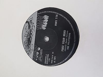 The Politicians - Free your mind - Hot Wax Records -  Funk 45