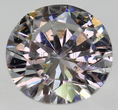Certified 0.27 Carat D VS2 Round Brilliant Enhanced Natural Diamond 4.26mm 3VG