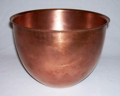 ATLAS METAL SPINNING CO ~ 5 Qt. Solid COPPER LINER for KitchenAid Mixer ~ USA