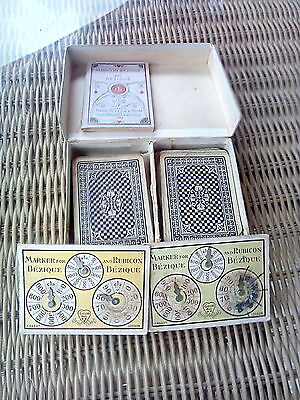 De La Rue Chas Goodall 1929 Bezique Boxed Playing Card Game Complete