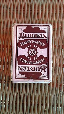 Vintage Burtons Happy Families Card Game