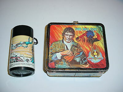 Vintage Lee Majors Fall Guy Metal Lunchbox w/ Thermos 1981 Aladdin Stuntman