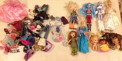 Doll And Accessories Bundle Including Monster High And Barbie