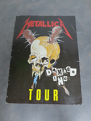 Metallica 1986 Damage Inc. Tour Concert Program Book - Rare Collectable