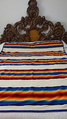 Great Pendleton Beaver State Striped Wool Blanket #J157