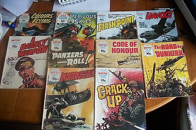 8 Battle & 4 War Picture Library Comics Good Reading Copies