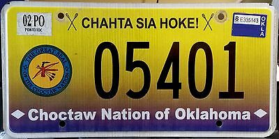 "OKLAHOMA "" CHOCTAW NATION TRIBE ""  OK Indian Graphic License Plate"