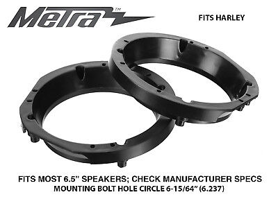 "Metra 82-9600 6"" - 6.5"" Speaker Mount Adapters For Harley Davidson Motorcycles"