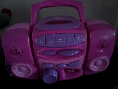 Girls Chad Valley Pink Music Nursery Rhyme CD Player  With 3 CD's VGC