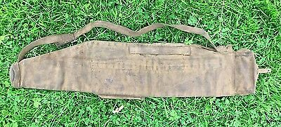 Ww2 Bren Mk 1 P37 Webbing Spare Barrel Case With Strap + Date 1943 British Made.