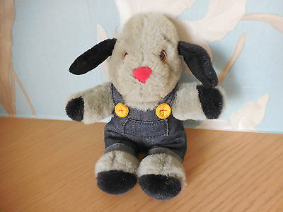 """VINTAGE Sooty & Sweep """" SWEEP """" The Dog- Plush ToyTitan Toys 8.5'' With Squeaker"""
