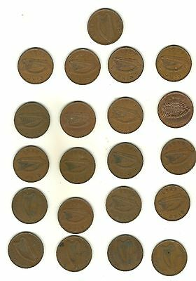 Very Scarce 1940 Penny Ireland With Full Set Of Other 20 Hen Pennies