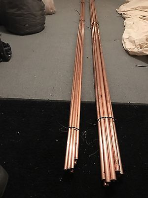 Copper Pipe/tube Bundles 1x15mm 1x22mm 10 X 3 Meter Lengths.