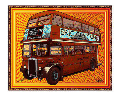Eric Clapton 2009 Royal Albert Hall Tour Bus Poster