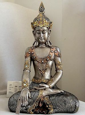 Large Divine Beautifully Detailed Buddhas Statue. Adorned In Swarovski Elements