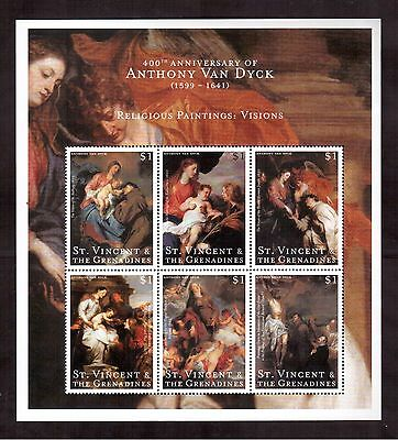 St.vincent & The Grenadines 2000 #2768 S/s Mint Nh Anthony Van Dyck Paintings !!