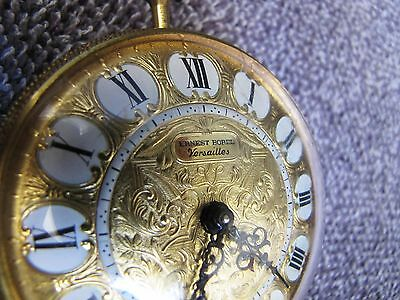 Large Vintage Ernest Borel Versailles 8-Day Alarm Pocket Watch