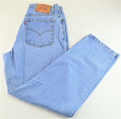 VINTAGE WOMENS LEVI'S 550 RELAXED FIT TAPERED LEG HIGH WAIST JEANS size 12 MIS