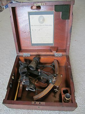 Antique Sextant - Wilfred O'white - In Original Wooden Case