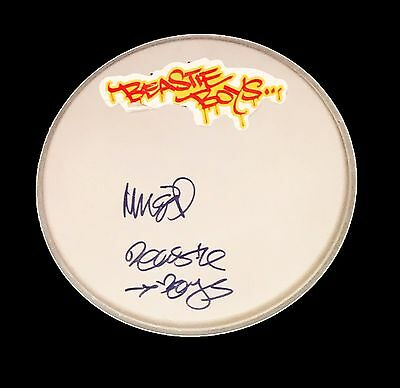 Mike D Diamond Hand Signed Autographed Drumhead With Coa Beastie Boys Very Rare