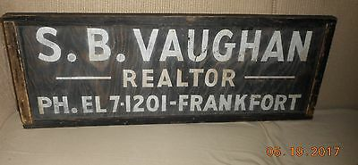 Aafa Antique Hand Painted Wood Sign Original Paint