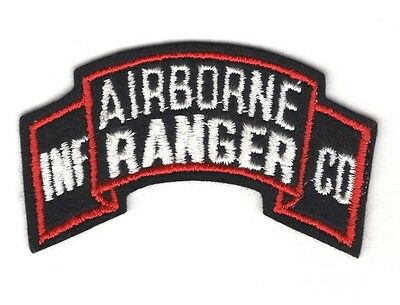 Army Patch:  Airborne Ranger Infantry Company - scroll on felt