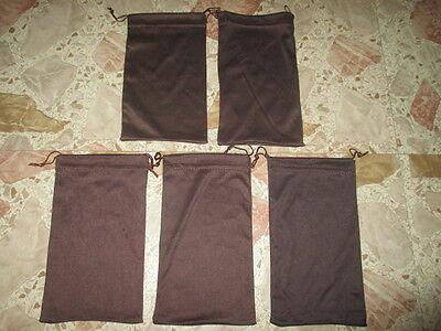 Anne Klein Lot 5 Brown Cleaning Microfiber Sunglasses Bag Case
