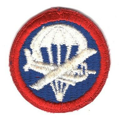 Army Patch:  Airborne Cap Patch, Officer - cut edge
