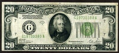 U.s.a. 20 Dollars Seris 1928 Federal Reserve Note  !!!! Xf