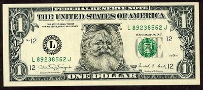 Usa 1 Dollar 1988 Santa Clauss  Note  !!!! Unc