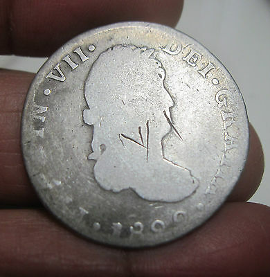 1822 JM (MEXICO) 2 REALES (SILVER) GUANAJUATO --WAR of INDEPENDENCE----- RARE---